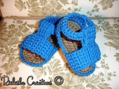 (4) Name: 'Crocheting : Baby sandals