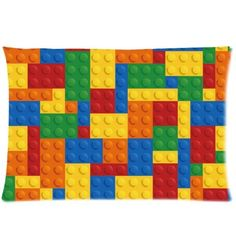 Custom Lego Brocks Pattern /Lego Bricks Background Rectangle 20x30 inch One Side Pillowcase Pillow Covers