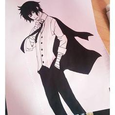 Paper paiting, watercolor. Anime/manga: Bungou Stray Dogs [Dazai Osamu] Dazai Osamu, Angel Of Death, Bungo Stray Dogs, Tokyo Ghoul, My Arts, Watercolor, Manga, Drawings, Paper