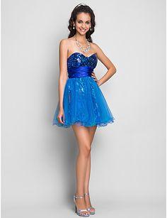 Vestidos color azul electrico para promocion