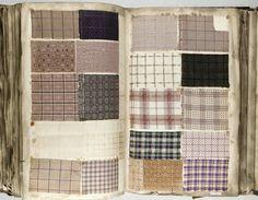 Antique Vintage Tissu échantillon livre