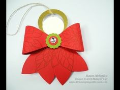 Stampin' Up! Gift Bow Die Angel by Dawn O - YouTube