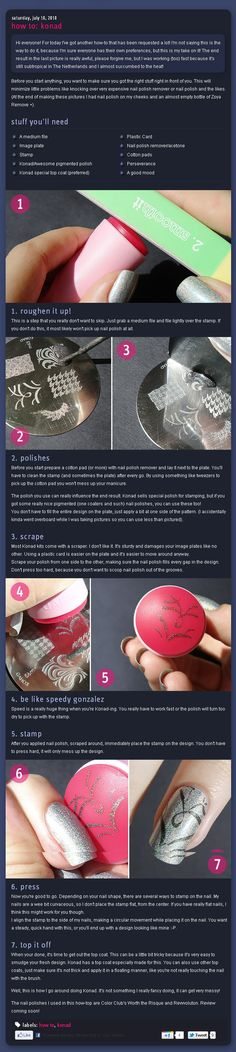 How to: Konad (nail art, stamps, stencils, stamping, stamp)