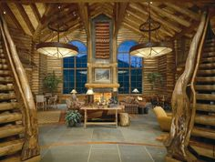 Spectacular Log Home In The Heart Of Castle Creek Valley