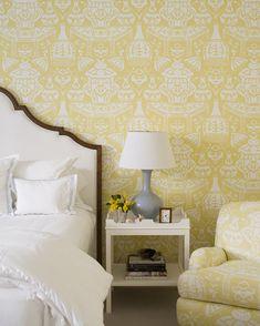 Yellow Wallpaper Bedroom Jk Kling David Hick S The Vase Wonderful