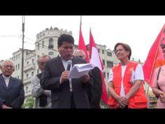 Alcaldesa de Lima Susana Villarán participó en develamiento de busto de Pedro Huilca