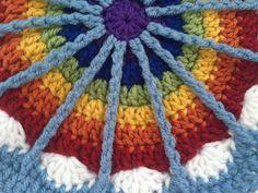 Cherity's Rainbow #Crochet Contribution to #MandalasforMarinke