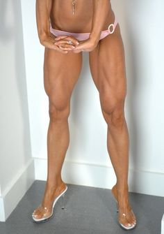 My goal is for my legs to look like this next time I do a competition! Love the conditioning!