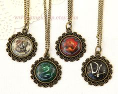 Harry Potter Necklace Harry Potter Jewelry Hogwarts by MagicTrip, $3.99