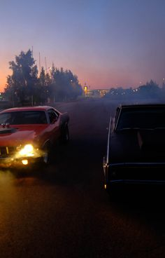 Hot Cars | 1966 Dodge Charger & 1971 Plymouth Barracuda by Peter Larsson