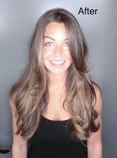 caramel highlights   ... hills colorist caramel highlights beautiful brunette hair color