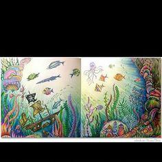 Colorido mais que incrível by @rpenze #oceanoperdido #lostocean #johannabasford #desenhoscolorir