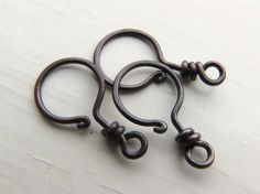 Edison Hook Clasp 1 2 3 4 or 5 clasps by thecuriousbeadshop