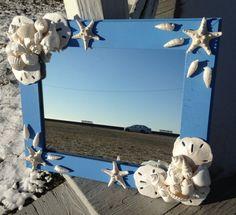 Beach Decor  Nautical Shell Mirror LM011 by JJIlluminations
