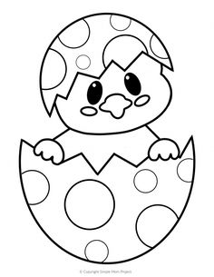 Free Printable Easter Egg Chick Coloring Pages - Simple .-Kostenlose druckbare Easter Egg Chick Malvorlagen – einfache Mutter Projekt – … Free Printable Easter Egg Chick Coloring Pages – Simple Mother Project – Printable Crafts and Activities – - Easter Crafts For Toddlers, Easter Activities, Toddler Crafts, Kids Crafts, Easter Egg Crafts, Easy Crafts, Easter Decor, Easter Ideas For Kids, Bunny Crafts