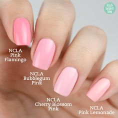 NCLA The Pinks – Nagellack Kollektion - swatch by frischlackiert
