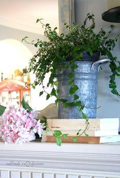 Spring Mantel | Refresh Restyle