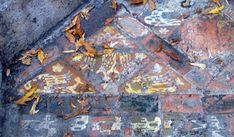 Tiles in situ at the ruins of Glastonbury Abbey, England. Glastonbury Abbey, Antique Tiles, 14th Century, Renaissance, Art Nouveau, City Photo, Medieval, Dan, England
