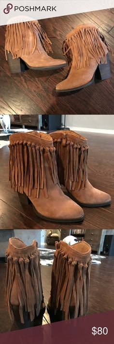 Volatile Fringe Booties size 8 Very Volatile Fringe Booties size 8. worn once, very cute!! Volatile Shoes Ankle Boots & Booties