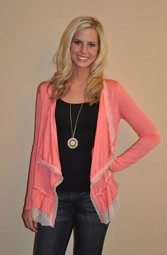 Spring Cardigan from www.peacockalleyboutique.com  Cute fun casual look!