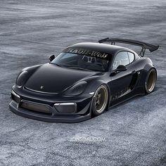 RWB Widebody Porsche Cayman GT4 Is A Mythical Beast