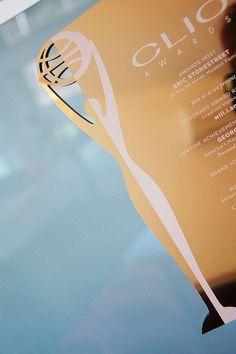 2013 CLIO Awards invitations Designed by: @RedBliss, @ChristineTraulich
