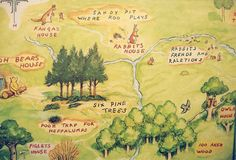 the 100 acre wood map