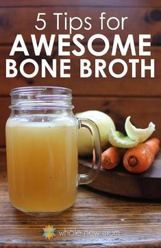 New to making bone broth? Here are 5 Tips for making Homemade Bone Broth and an Easy Chicken Broth Recipe.