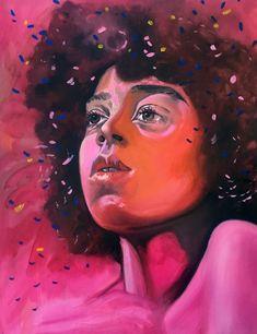 'Confetti Haze' - Limited Edition Print by Amanda Mulquiney-Birbeck Black Girl Art, Black Women Art, Art Girl, Colorful Wall Art, Contemporary Artwork, Portrait Inspiration, Limited Edition Prints, Figurative Art, Online Art Gallery