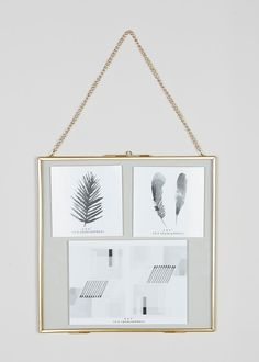 Large Gold Hanging Metal Photo Frame With Chain X For Multi Picture Multi Picture Frames, Metal Photo Frames, Glass Picture Frames, Hanging Picture Frames, Hanging Pictures, Photo Frames Uk, Photo Hanging, Gallery Wall Frames, Frames On Wall