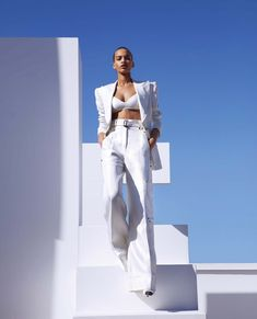 Shape Shifters - Nisaa Pouncey by Camilla Åkrans for Harper's Bazaar US March 2018