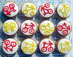 It's about time we had a picture of some cake on this site. Thanks Ruth, who made them for the Southwark Cyclists' stall in the Silver Fest. Bicycle Party, Bicycle Cake, Bike Cakes, Harry Birthday, Boy Birthday, Birthday Parties, Birthday Ideas, Vegan Cupcakes, Yummy Cupcakes
