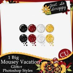 1 Big Mousey Vacation Glitter Photoshop Styles