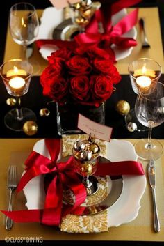 Christmas table settings - クリスマス テーブルコーディネート もっと見る