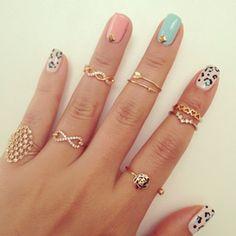 cute gold rings