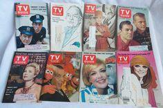 Lot of 8 Vintage TV Guide Magazines 1963-1976 Bob Hope Car 54 Rhoda Sullivan