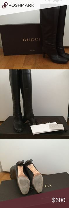 Authentic Gucci Rodano Cocoa Calf Boots in 38.5 Gucci Rodano Cocoa (Brown) Calf Boots in 38.5.  Authentic Gucci preloved boots.  Gently used.  Comes with original shoe box, shoe bag, gucci care booklet, and shoe trees for proper storing. Gucci Shoes Heeled Boots