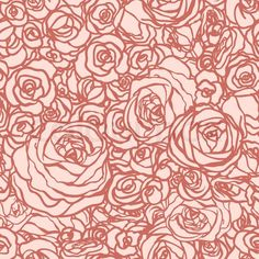 Vintage Rose Floral Pattern | Stock vector of 'Seamless pattern with flowers roses, vector floral ...