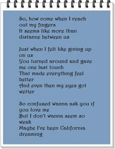 California King Bed #lyrics