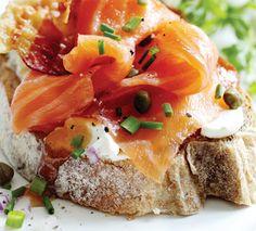 Smoked Salmon with Farmhouse Brown Bread