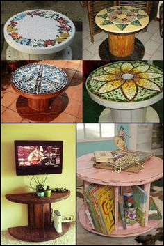 30 Extraordinary Ways To Repurpose Old Wooden Wire Spools theownerbuilderne. Don't let those wooden wire spools end up in the dump. There are lots of ways to repurpose them. Which of these ideas cal Wooden Spool Tables, Cable Spool Tables, Wooden Cable Spools, Wood Spool, Wood Table, Cable Spool Ideas, Pallet Tables, Repurposed Furniture, Pallet Furniture