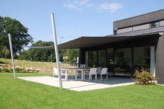 Garden Sun Shade, Backyard Shade, Patio Shade, Outdoor Spaces, Outdoor Living, Outdoor Decor, Built In Wardrobe Designs, Sun Sail Shade, Rustic Wood Furniture