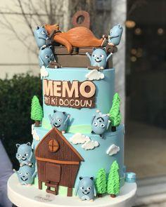 3rd Birthday, Birthday Parties, Bear Party, Family Birthdays, Dinosaur Party, Cakes For Boys, Party Cakes, Birthday Decorations, Cake Decorating