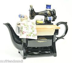 Large Size Paul Cardew Infusion Porcelain Sewing Machine Teapot | eBay