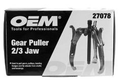 Great Neck OEM 27078 2/3 Jaw, 5-Ton Gear Puller by Great Neck. $41.21. OEM 5 Ton Gear Puller 2/3 Jaw. Made with heat treated alloy steel. Quick change coupler. Maximum spread 7-inches. Maximum reach 3-1/2-Inch. Maximum speed 4-3/4-Inch. Center forcing screw 3/8-Inch-24 x 4-7/8-Inch. Designed for professional auto mechanics and heavy duty applications.