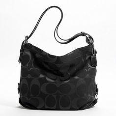 $328 : Authentic Coach Signature 24CM Zip Duffle Hobo Bag 15067 Black