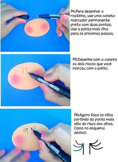 Creativity with Care!!: How to Draw the little face in Fofuchas