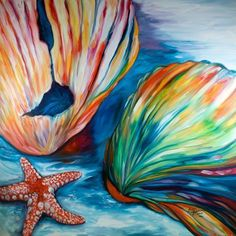 Starfish Paintings | Art: SEASHELLS & STARFISH by Artist Marcia Baldwin