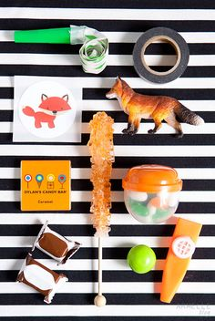fox inspired birthday party goodies for the party favors // armelle blog