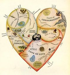 Geographical Guide to a Woman's Heart Emphasizing Points of Interest to the Romantic Traveler, by Jo Lowrey for McCall's 1960